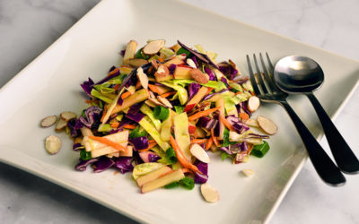 Cabbage and Apple Salad with Ginger Vinaigrette