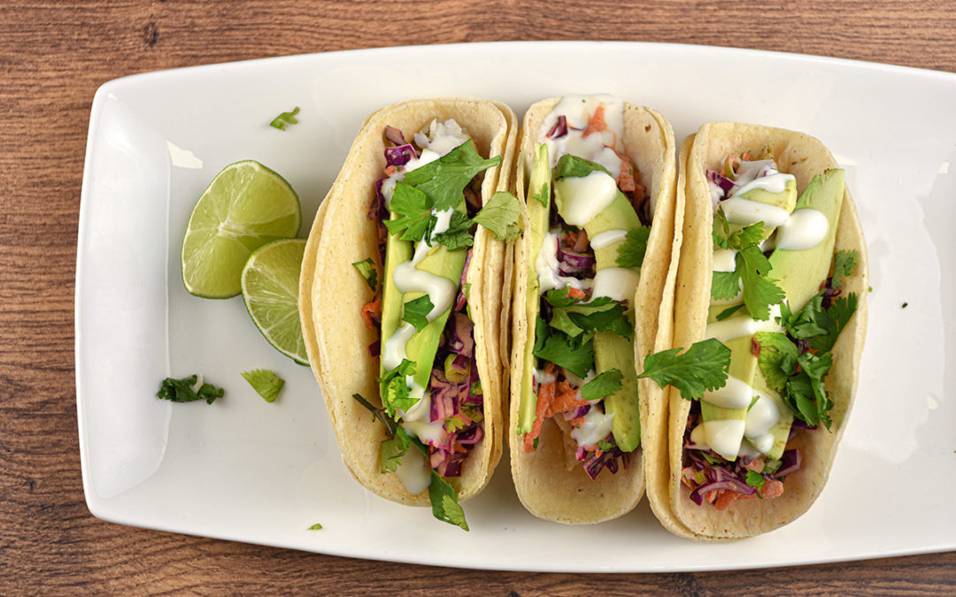 Fish Tacos with Lime Crema