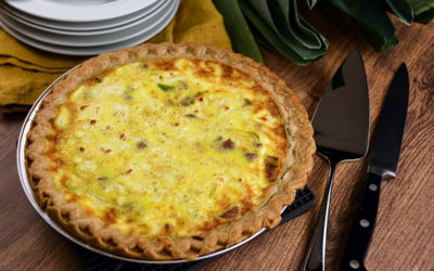Leek, Goat Cheese and Chicken Apple Sausage Quiche