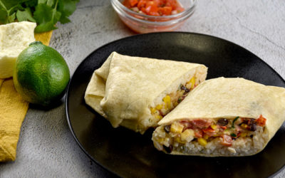 Veggie Burrito with Lime Crema