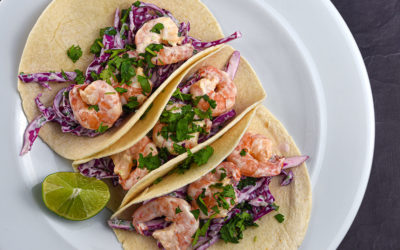 Shrimp Tacos with Cilantro Lime Slaw